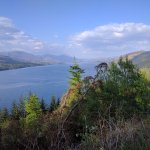 View of Loch Carron on the way back
