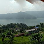 View on the Pokhara lake
