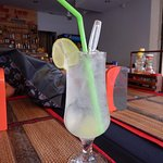 Ice packed lime juice - perfect on a hot day