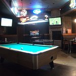 pool table in game area