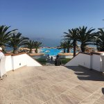 Some photos of the view from the terrace, the Greek taverna and the food.