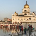 The Gurudwara Bangla Sahib, the biggest Sikh place of worship in New Delhi