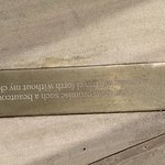 Love the quotations from the sonnets on the paving. This one shows that Shakespeare has a quote