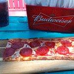 Flatbread Pizza... tasty sauce!