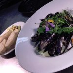 Menai Mussles, Garlic, White Wine, Cream, Parsley