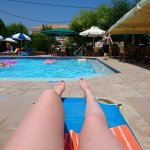 Pool view from sun lounger