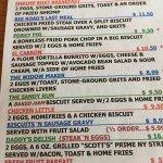 Cahill's menu