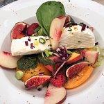 Goats Cheese, Fig & Peach Salad