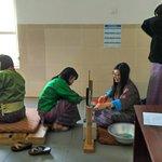Ladies Weaving