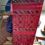 A beautiful weaving in progress