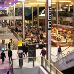 The Westfield Mall food court.
