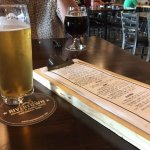 Rivertown blueberry lager and drink menu