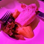 Insider awards. Lamb main course and halal chicken option.