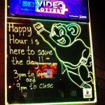 Happy Hour Mighty Mouse sign
