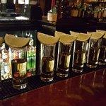 Tequila sunset at the #omnihoustonwesthotel #blackandgoldbar