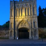 The abbey opposite at night