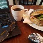 Brekki sammy and regular coffee - good deal