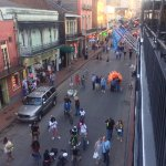 The view from our Bourbon Street Balcony daytime. It was much crazier in the evening/night time