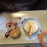 Riz au lait avec une verrine caramel au beurre salé !!!! Et la Breizh!!!