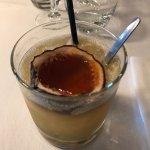Cocktail Tiki : une tuerie !!! Accompagné d'une tapenade maison offerte.  Le BURGER Corse un dél