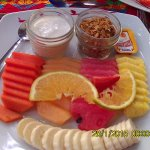 Delicious fruit plate