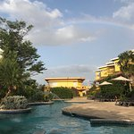 Rainbow while sitting out by the pool:)
