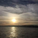 Beautiful sunset on Tagus river