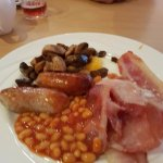 Really good quality bacon and sausage, a good selection of fruit juice, yogurts, cereal and frui