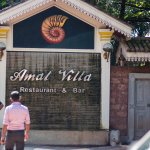 Entrance of Amal Villa Restaurant