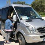 Our comfortable mini bus