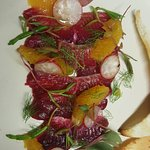 Beautiful beetroot cured salmon