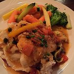 Tasty Walleye with mashed potatoes and mixed vegetables