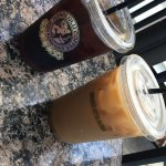 cold brew and iced coffee with honey