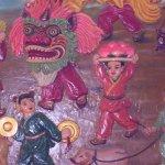 dragon mask mural
