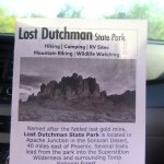Park Brochure, Lost Dutchman State Park, Apache Junction, Arizona