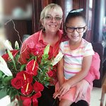 GiGi  brought me some flowers for mothers day!  Love you!