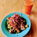 Thai Bowl & Carrot Ginger Juice