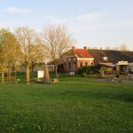 The beuatiful hotel in a typical groninger landscape