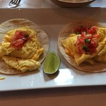 Breakfast tacos. Yum!