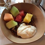 Granola with yogurt and fruit. Delicious!