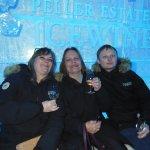 Enjoying a glass of Vidal Icewine