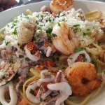 Spicy seafood linguini and low boil for2