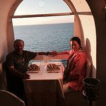 How's this for a romantic dinner! We were over a cliff!