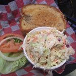Fish sandwich and slaw were good too.