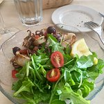 Grilled Calamari with capers, diced tomato, lemon & olive oil