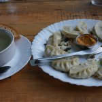 Veg Momo and Veg clear soup