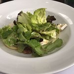 Pear, rocket, blue cheese, and walnut salad.  AWESOME!