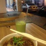 Thai Style Beef Noodle & Thai Style Green Milk Tea