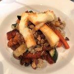 roast veggies and halloumi