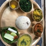 Thali from the hotel